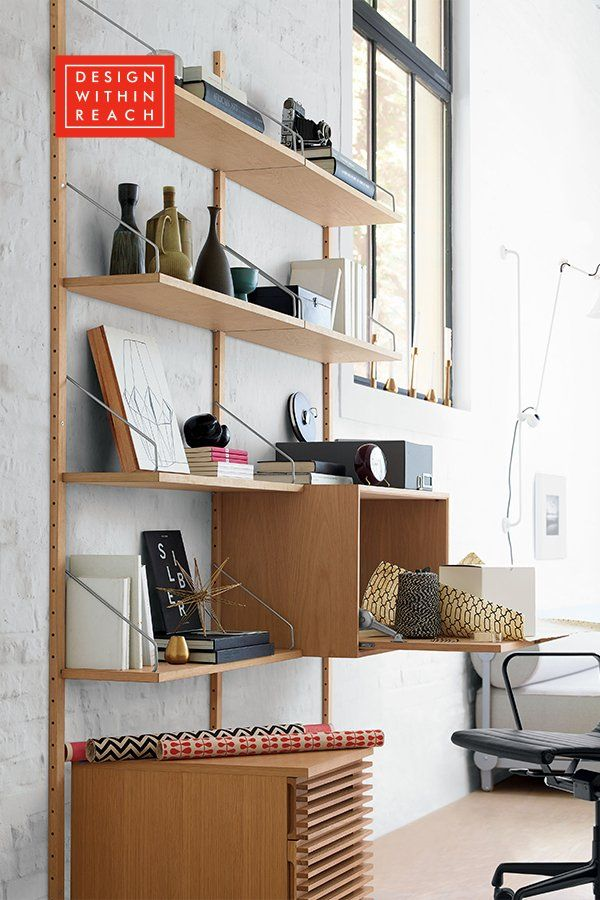 Royal System Shelving Designed As A Wall Mounted Shelving System