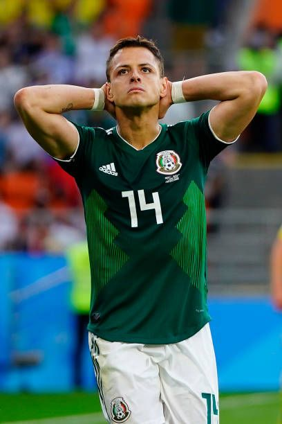 6a07142a5 Javier Hernandez of Mexico reacts during the 2018 FIFA World Cup Russia  group F match between Mexico and Sweden at Ekaterinburg Arena on June 27  2018.