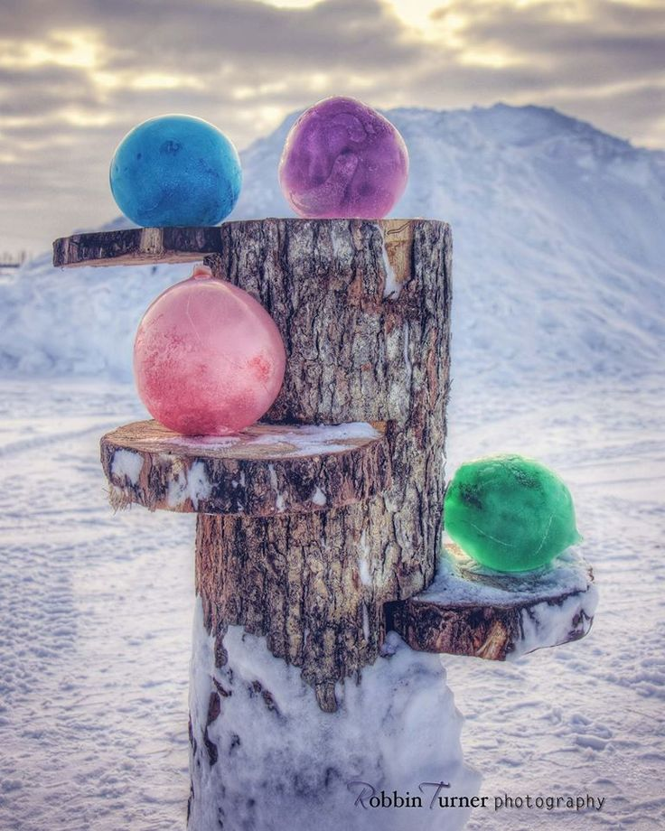 Rustic outdoor wood decor shelf created by Cecil Turner. Artistic photography and frozen art by Robbin Turner Photography.