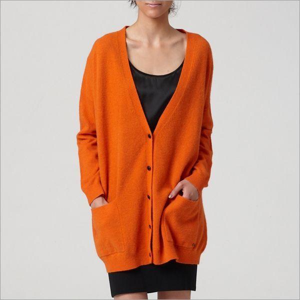【ブランド】Twist & Tango【品名】ニット / Kenya Cardigan【カラー】オレンジ / エレクトリックブルー【サイズ】Sサイズ:身幅75 着丈75 袖丈45 (cm)【素材】アンゴラ20% ラムウール70% ナイロン10%