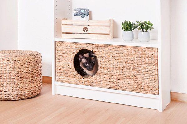 Katzenkorb für Kallax und Billy Regal von Ikea | Ikea kallax