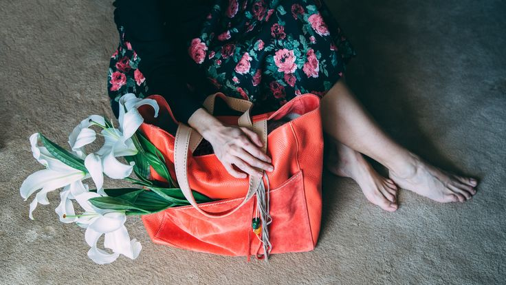 City shopper coral by HappyM. Butterflies collection