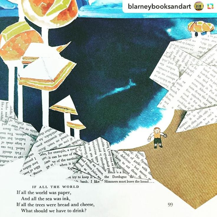 A little Sunday inspiration from @blarneybooksandart via @GPRepostApp ======> @blarneybooksandart:If all the world was paper And all the sea was ink If all the trees were bread and cheese What should we have to drink?  #mothergoose #treasury #raymondbriggs #poem #poetry #kidspoems #anthology #oldbooks #secondhandbooks #vintagebooks #bookshop #childrensbooks #art #paper #ink #blarneybooksandart #portfairy #portfairyfolkfestival by australianshortstoryfestival