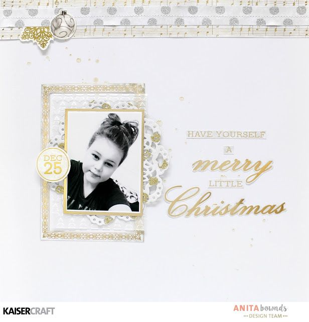 Have yourself a Merry little Christmas layout With Anita Bownds – Kaisercraft Glisten