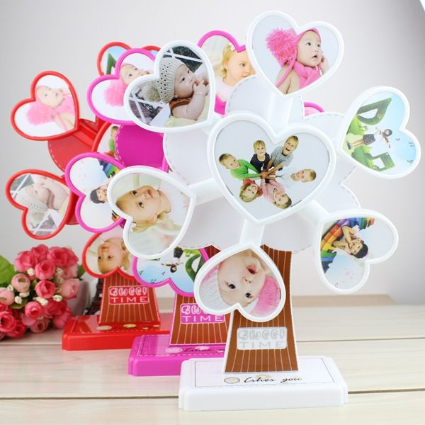 ==> [Free Shipping] Buy Best Send girlfriends girl music box creative studio heart - shaped frame rotating windmill Ferris wheel photo frame music box Online with LOWEST Price | 32783497834