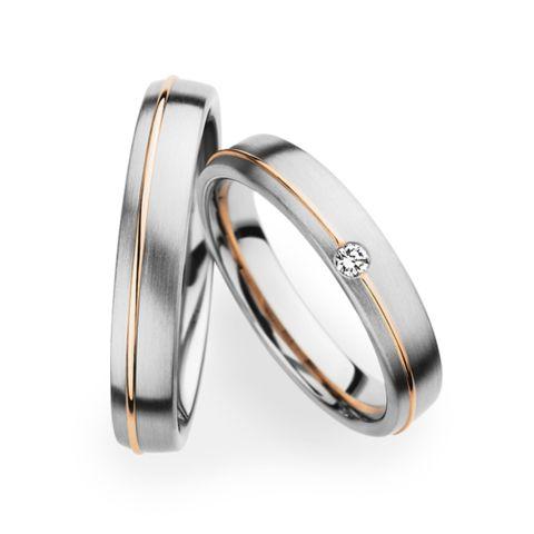 Platinum And Gold Matching Wedding Bands Christian Bauer Wedding