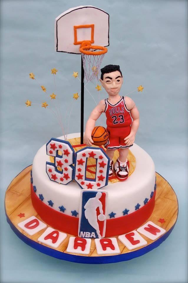 Custom Figure Basketball Cake Fondant Cakes Pinterest