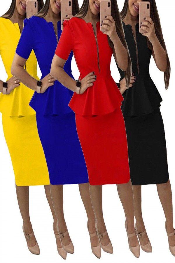 WOMENS LADIES LACE TOP CONTRAST PEPLUM FRILL DRESS BODYCON DRESSES BLACK SKIRT