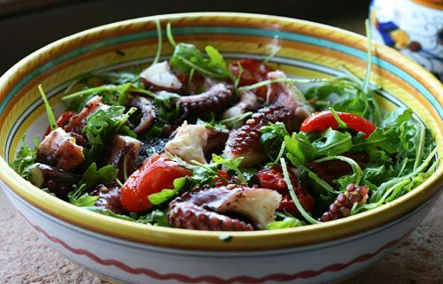... octopus salad | Delish | Pinterest | Octopus Salad, Octopus and Salads