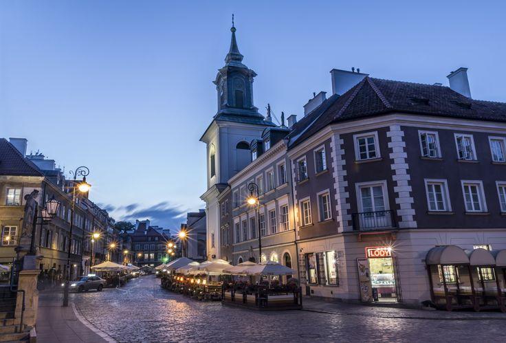 Freta Street, Warsaw, Old Town - Old Town, Freta Street at dusk, Warsaw, Poland