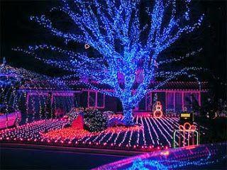 led christmas lights on houses - Christmas Light Houses
