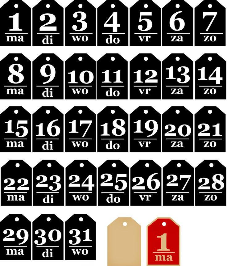 December Daily 2014 freebie | Karin van den Berg .nl Silhouette bestanden en pdf in Nederlands en Engels. Veel plezier er mee!