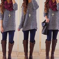 Love the style of this, boots legging long shirt is my favorite