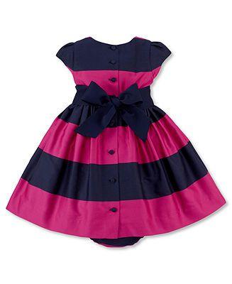 Ralph Lauren Baby Girls Dress, Printed Dress (0-24 months)
