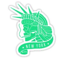New York - Statue of Libery Skull (no background) Sticker