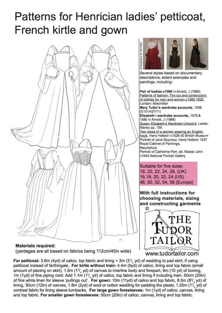 From The Tudor Tailor. 11yards for the outer, main dress. Daaaaang. And TEN yards of boning, overall. 0_0
