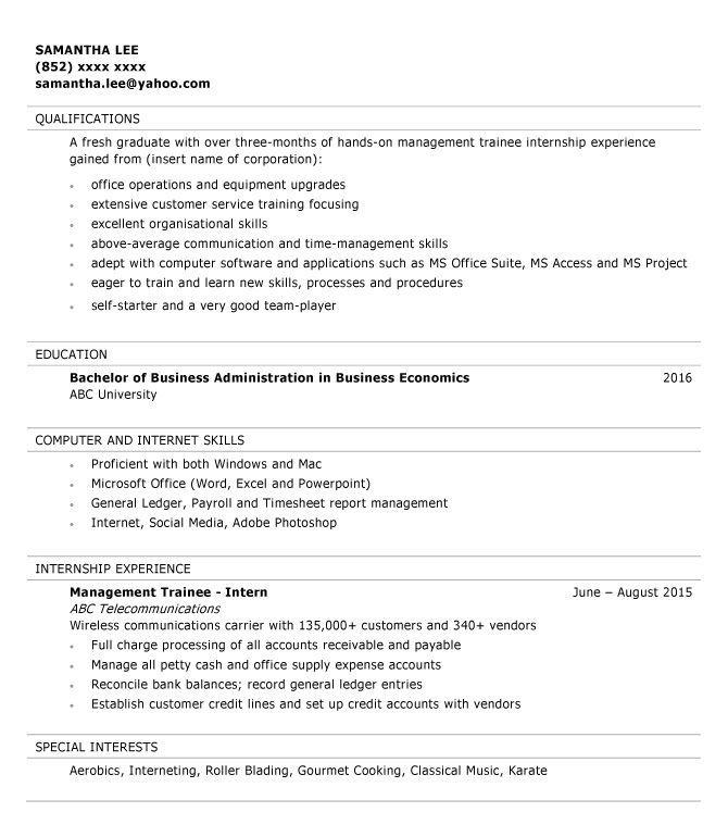 Hong Kong 3 Resume Templates Pinterest Sample Resume Resume