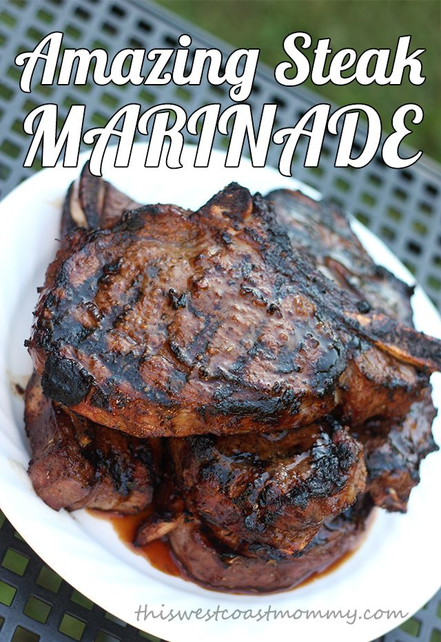 Make this simple and delicious marinade right in the freezer bag for tender, juicy, flavourful steaks and no extra dirty dishes!