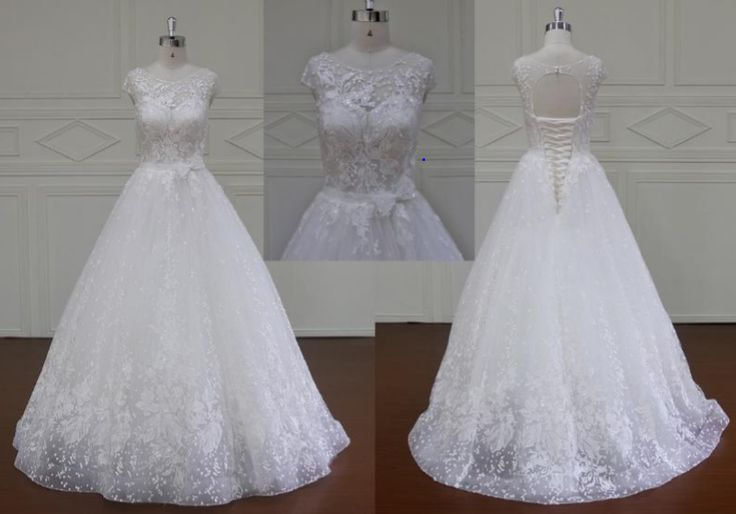 Adriana plus size wedding dress; can be made custom to your measurements for $100 more