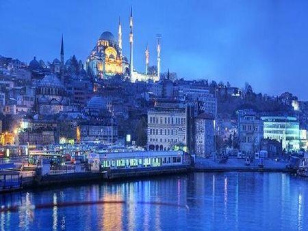 istanbul - city, lights, turkey, night, travel, sea