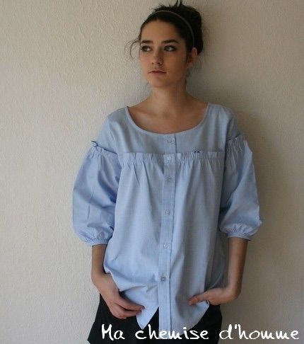 перешить мужскую рубашку в женскую блузку: 17 тыс изображений найдено в Яндекс.Картинках