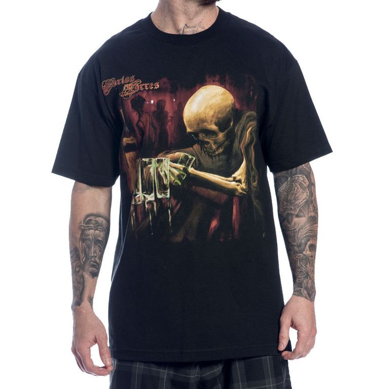 Details about sullen clothing carlos torres tee oversized for Tattoo t shirts wholesale