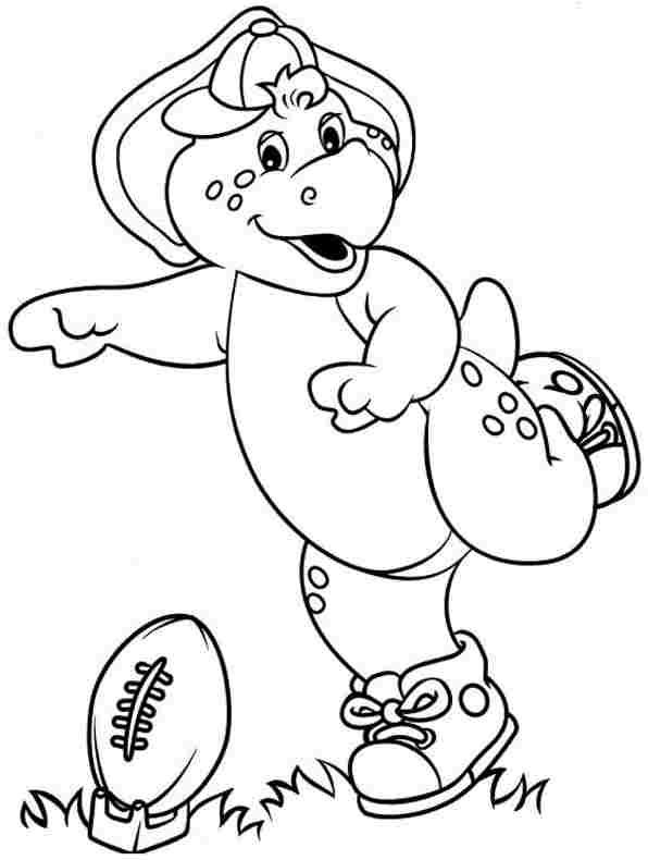 Barney Coloring Pages GetColoringPagescom | barney dinosaur coloring ...