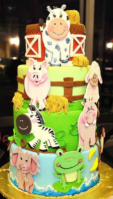 adorable animal cake