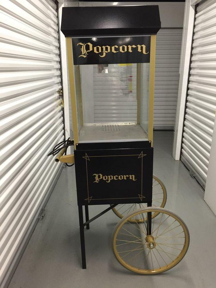FUN POP 8 OZ. POPCORN POPPER MACHINE w/ Cart  by GOLD MEDAL Black #GOLDMEDAL