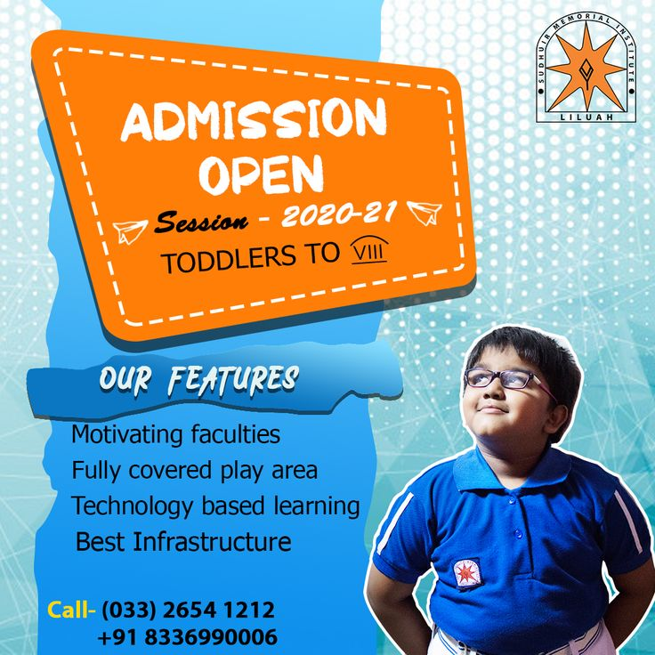 Admission Open! Session 202021! Enroll Now Toddlers to