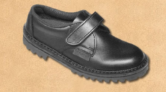 Style: Rip Sizes: 9 - 2½ including Halves Colours: Black Only, Velcro fastening Very suitable for boys starting school.