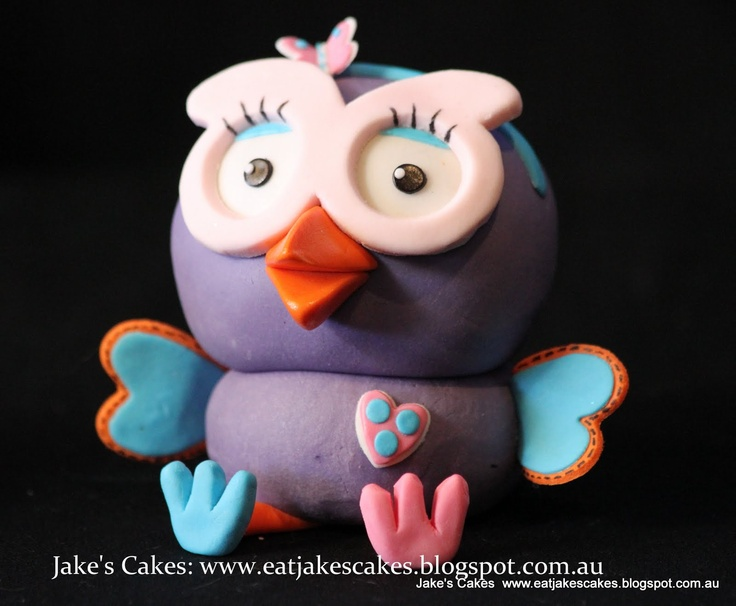 Jake's Cakes: Hoot and Hootabelle Cake topper