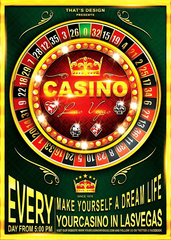 Casino Flyer Template 2