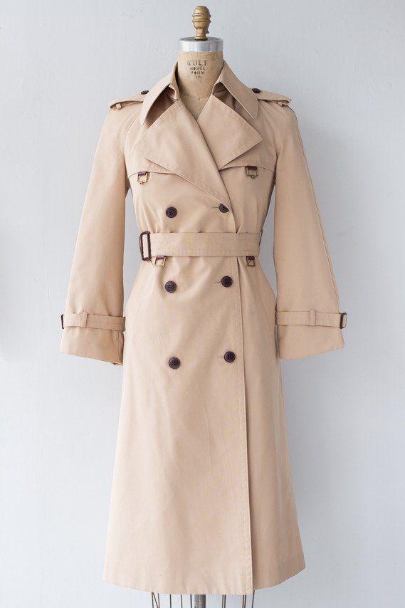 1970s Etienne Aigner Trench Coat w Belt - Millay