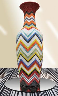 Monumental vase covered with glass mosaic