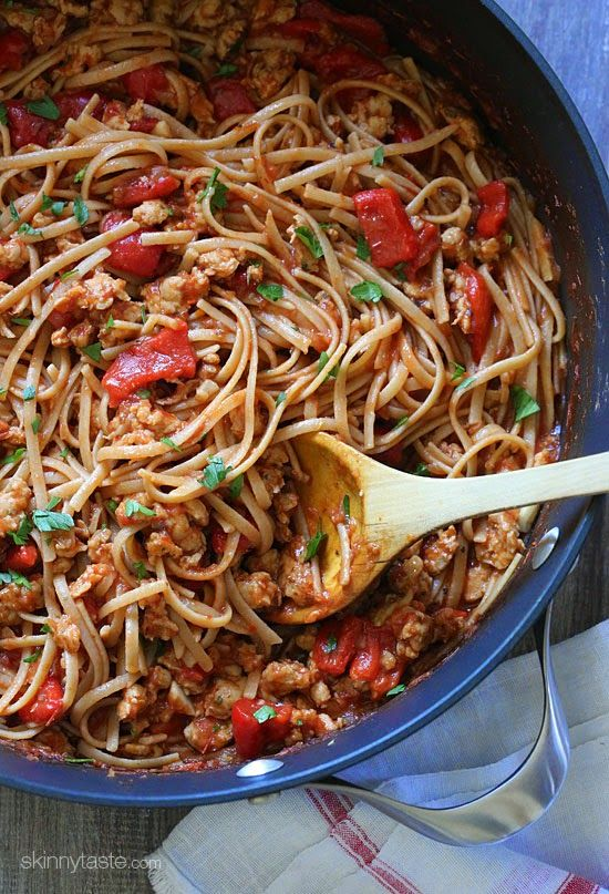 whole wheat linguini with sausage and roasted peppers veggie sausage ...