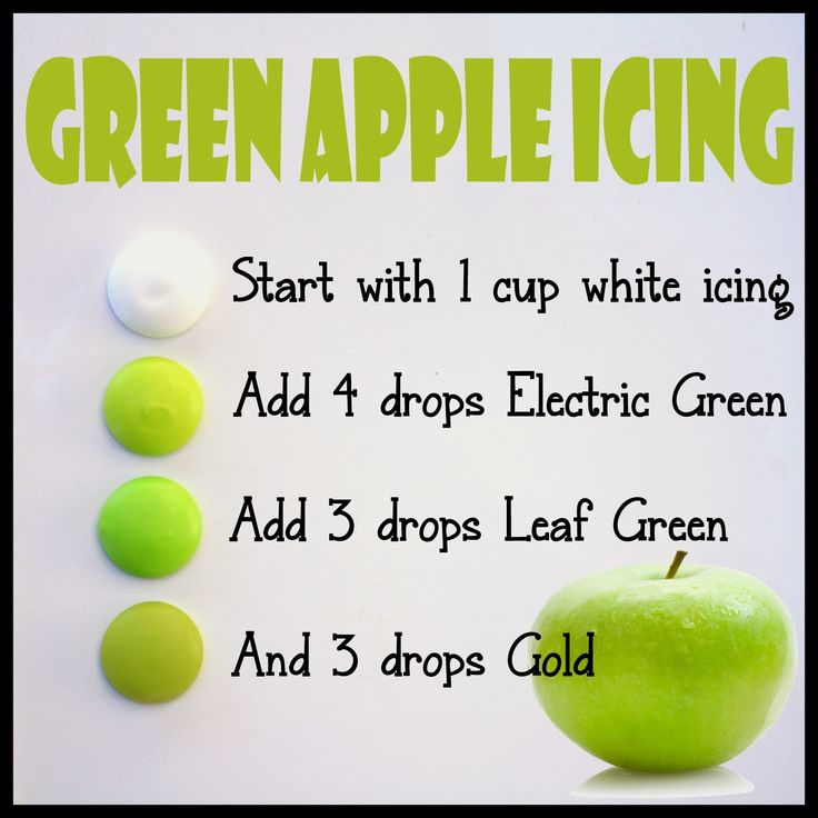 how to make dark green icing