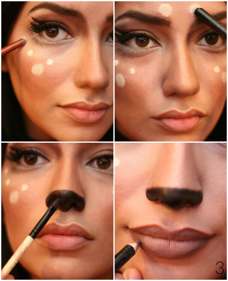 Tutorial, Makeup, Featured, Inspiration, Bambi, Deer Makeup tutorial, Halloween, Fashing Verkleidung, Idee Inspiration Costume Kostüm Verkleidung Mode süß niedlich weiblich female sweet cute brown eyes easy quick, last minute, DIY, do it  yourself