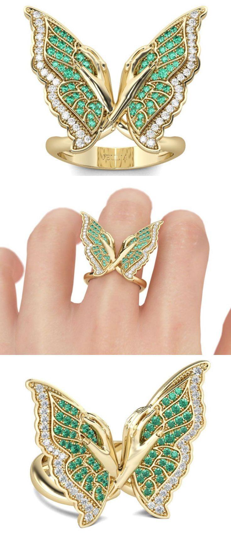 Butterfly Diamond Ring Animal jewelry, Jewelry