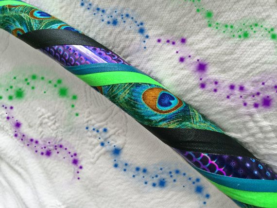 Peacock Feather Dance & Exercise Hula Hoop by DanceHoops on Etsy