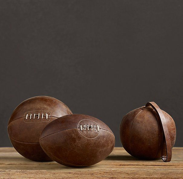 Vintage Leather Sports Balls