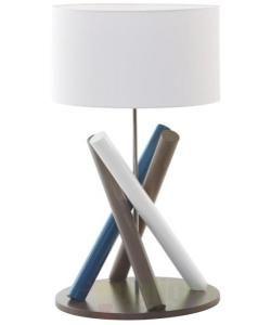 Veioza, lampa de masa, finisaj lemn multicolor, Fire FL - - Universul luminii | Corpuri de iluminat, lustre