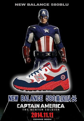 Men And Women New Balance 580 NB580 Shoes 《Captain America》Captain America x 580BLU Lovers Red|only US$65.00 - follow me to pick up couopons.