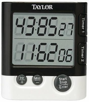 Taylor Classic Dual Event Digital Timer & Clock for Kitchen New