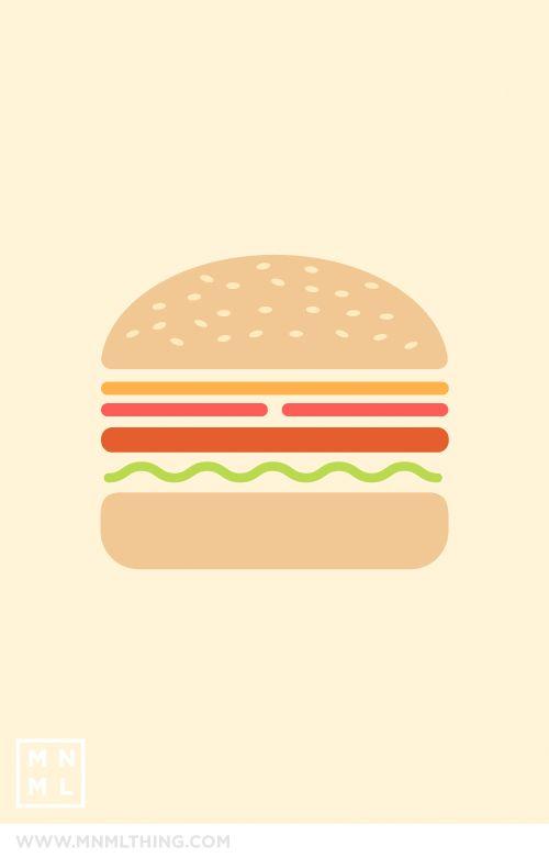 Hamburger iPhone wallpaper | Art ~ Graphic Design | Pinterest ...