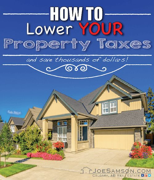 How to Lower Your Property Taxes: http://www.joesamson.com/blog/how-to-lower-your-property-taxes.html