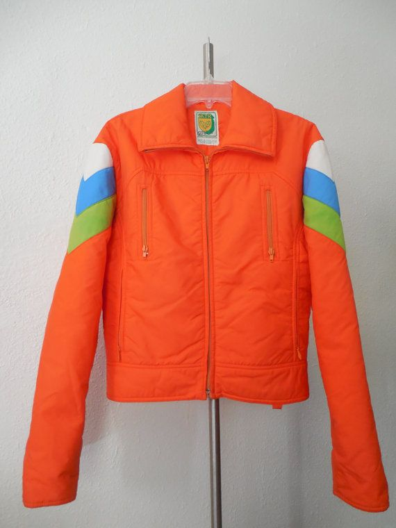 Kick Ass Retro 1970s Neon Ski Jacket / Mens by RetroAtticsBoise, $70.00