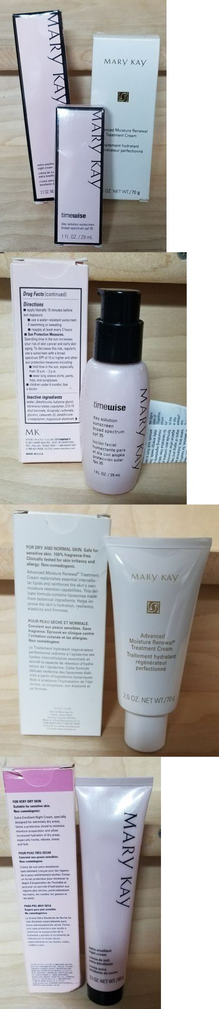 wholesale Skin Care: Mary Kay Skin Treatments Lot: Moisture Renewal, Emollient Night Cream, Sunscreen -> BUY IT NOW ONLY: $49.99 on eBay!