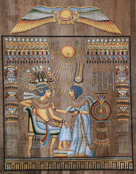 Egyptian Pharaoh Tutankhamun and his Queen