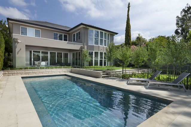 #Poolside at Chateau's architect designed Hunter's Hill home